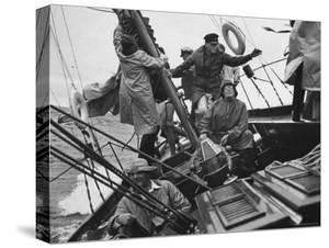 "Racing ""Maruffa"" Battling Storm During Annual Race on Lake Michigan from Chicago to Mackinac Island by William Vandivert"