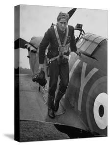 Raf Ace Pilot, South African Albert G. Lewis, After an Engagement with Enemy Planes by William Vandivert