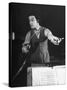 Romanian Conductor Sergiu Celibidache Working with the Berlin Philharmonic by William Vandivert
