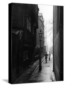 Students Walking Along Magpie Lane at Oxford University by William Vandivert
