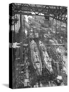 Submarine Assembly Plant at Deschimag by William Vandivert