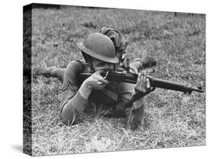 View of a Soldier Using a Springfield Rifle by William Vandivert