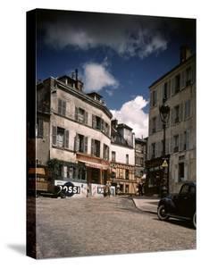 Winding, Uphill Street of the Montmartre Section of Paris by William Vandivert