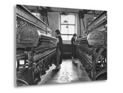 Young Girls Working in the Hot, Damp and Dirty York Street Flax Spinning Co