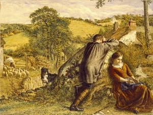 The Shepherd's Suit Rejected, 1867 by William Vandyke Patten