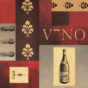 Vino in Red I by William Verner