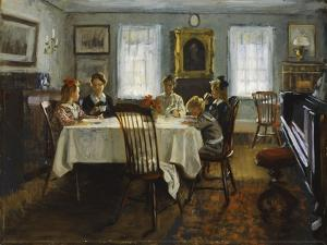 The Gilchrist Family at Breakfast, 1916 by William Wallace Gilchrist