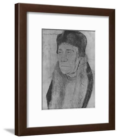'William Warham, Archbishop of Canterbury', 1527 (1945)-Hans Holbein the Younger-Framed Giclee Print