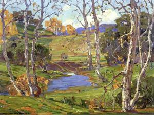 Sycamores by William Wendt
