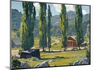 The Red Barn by William Wendt