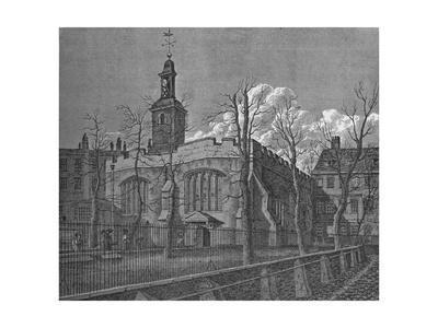Church of St Helen, Bishopsgate, City of London, 1817 (1911)