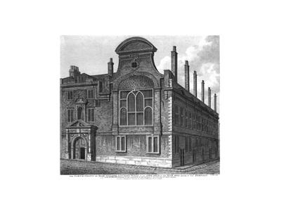 'The North Front of Sion College, London Wall, as it appeared in 1800', 1815