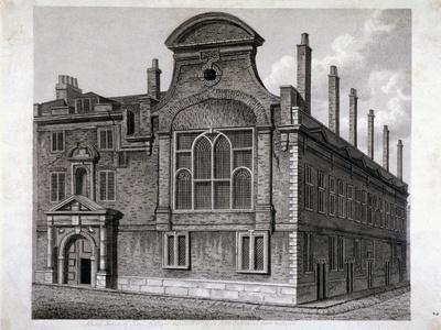 View of the North Front of Sion College, London, 1800