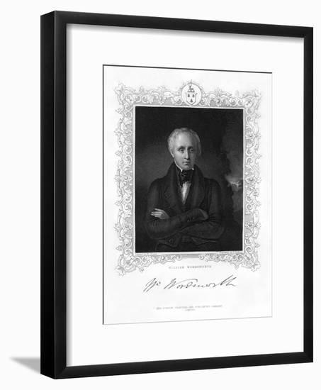 William Wordsworth, English Romantic Poet, 19th Century-J Cochran-Framed Giclee Print