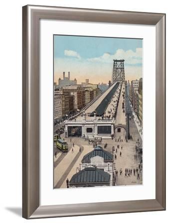 Williamsburg Bridge Approach, New York City, Usa--Framed Photographic Print