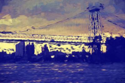 Williamsburg Bridge II - In the Style of Oil Painting-Philippe Hugonnard-Giclee Print