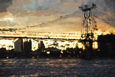 Williamsburg Bridge - In the Style of Oil Painting-Philippe Hugonnard-Giclee Print