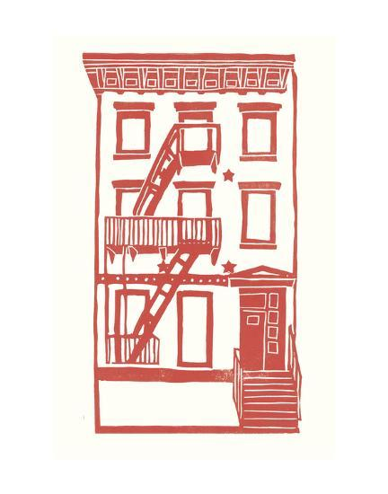 Williamsburg Building 7 (S. 4th and Driggs Ave.)-live from bklyn-Art Print