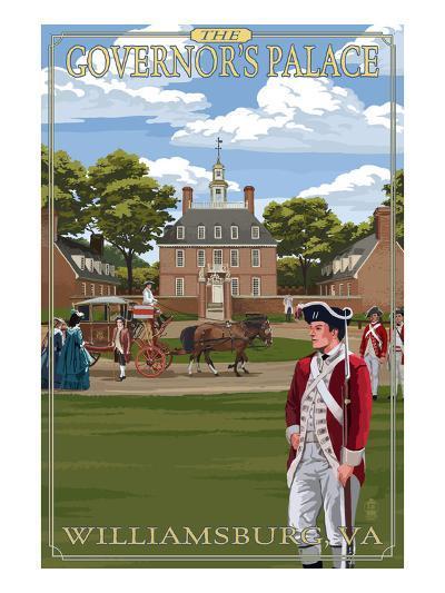 Williamsburg, Virginia - Governor's Palace in Spring-Lantern Press-Art Print