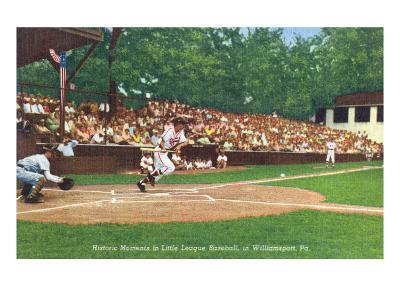 Williamsport, Pennsylvania - Kids Playing Little League Baseball-Lantern Press-Art Print