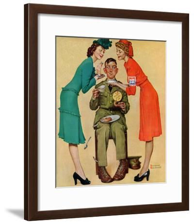 """Willie Gillis at the U.S.O."", February 7,1942-Norman Rockwell-Framed Giclee Print"