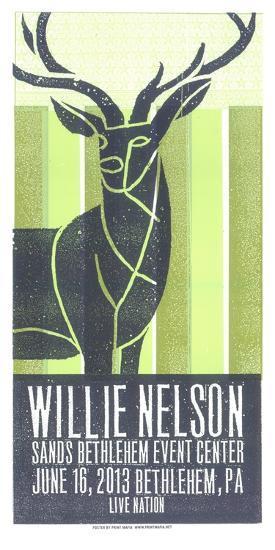 Willie Nelson-Print Mafia-Serigraph