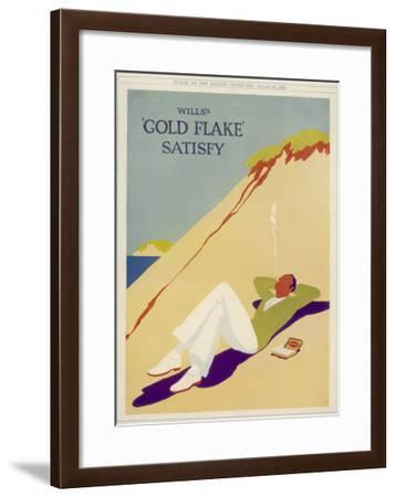Wills's Gold Flake Satisfy--Framed Giclee Print