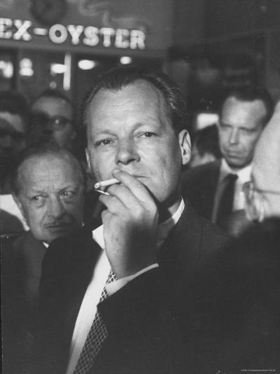 Willy Brandt Arriving for Foreign Ministers Conference-James Burke-Premium Photographic Print