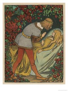 The Prince Kisses the Princess and She Awakens by Willy Planck