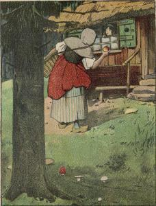 The Wicked Queen in Disguise Brings a Poisoned Apple to Snow White by Willy Planck