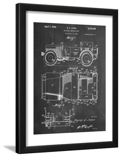 Willy's Jeep Patent--Framed Art Print