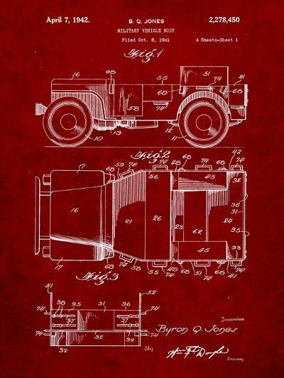 Willy's Jeep Patent-Cole Borders-Art Print