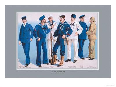 U.S. Navy: Uniforms, 1899