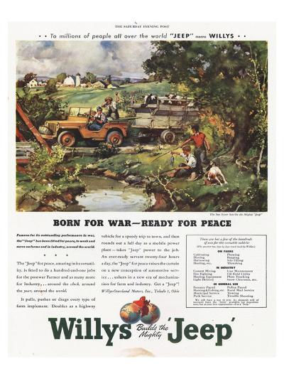 Willys Jeep - Born for War--Art Print
