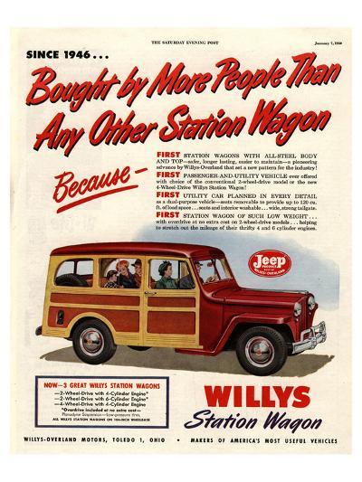 Willys Station Wagon Since1946--Art Print
