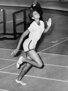 Wilma Rudolph Setting a World Record for the Indoor 60-Yard Sprint, Feb. 1961