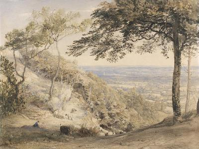 Wilmot's Hill, Kent (W/C, B/C and Chalk on Paper)-Samuel Palmer-Giclee Print
