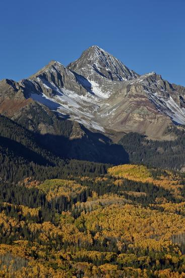 Wilson Peak in the Fall, San Juan National Forest, Colorado, Usa-James Hager-Photographic Print