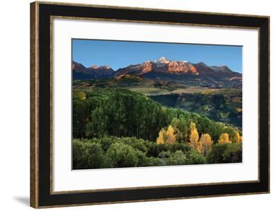 Wilson Peak Yellow Aspen Hills-Larry Malvin-Framed Photographic Print