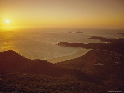 Wilson's Promontory, Sunset from Mount Oberon, Victoria, Australia-Dominic Webster-Photographic Print