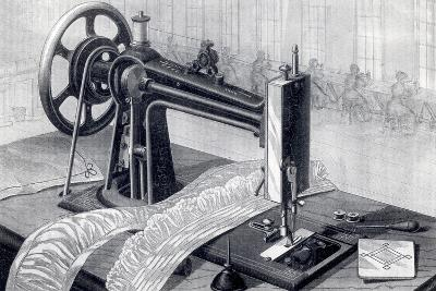 Wilson Sewing Machine, Showing Belt Drive from Treadle and Oil Can, from Park Benjamin Appleton's…--Giclee Print