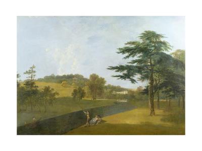 Wilton, Inigo Jones Stables, Temple Copse and Sir William Chambers' Arch-Richard Wilson-Giclee Print