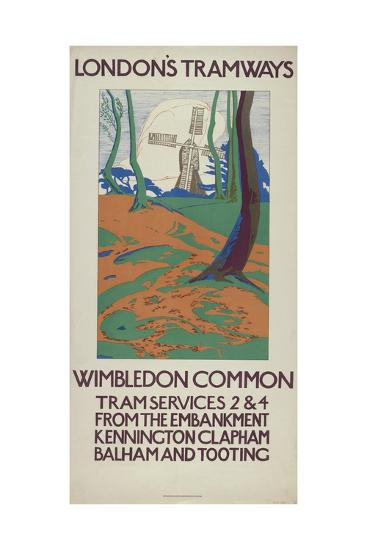 Wimbledon Common, London County Council (Lc) Tramways Poster, 1923-GW Widmer-Giclee Print