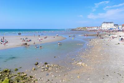 Wimereux Beach, Cote D'Opale, Region Nord-Pas De Calais, France, Europe-Gabrielle and Michel Therin-Weise-Photographic Print