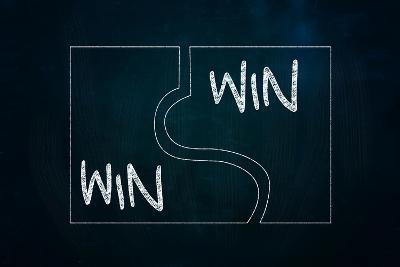 Win-Win Puzzle-airdone-Art Print