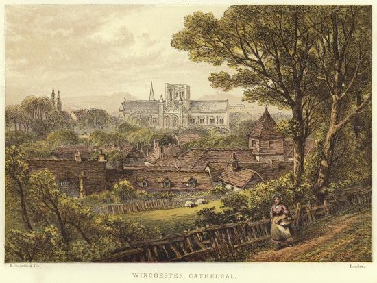 Winchester Cathedral in Winchester--Giclee Print