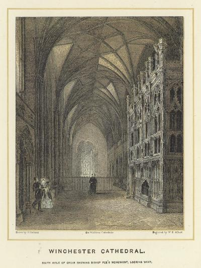Winchester Cathedral, South Aisle of Choir Showing Bishop Fox's Monument, Looking West--Giclee Print