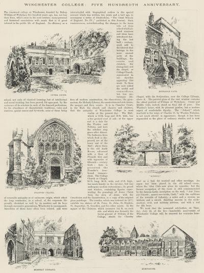 Winchester College, Five Hundredth Anniversary--Giclee Print