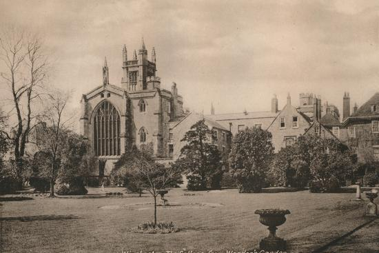 Winchester College from the Warden's Garden, Hampshire, early 20th century(?)-Unknown-Photographic Print