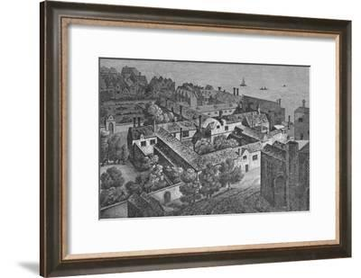 'Winchester House, Southwark, about 1649, from the tower of St. Saviour's', c1812,-Wenceslaus Hollar-Framed Giclee Print